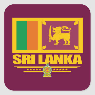 Orgullo de Sri Lanka Pegatina Cuadrada