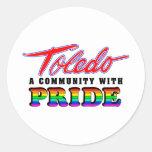 Orgullo de Toledo Etiquetas Redondas