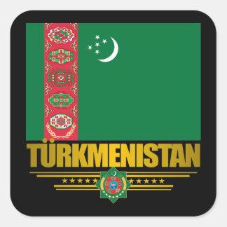 Orgullo de Turkmenistán Calcomanía Cuadradas