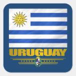 """Orgullo de Uruguay "" Pegatina Cuadrada"