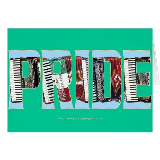 Orgullo del acordeón felicitación