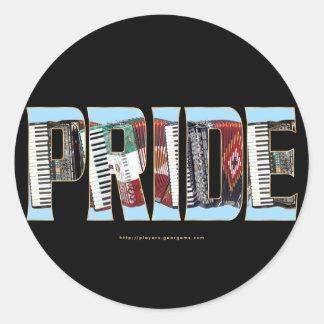 Orgullo del acordeón pegatinas