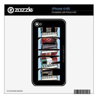ORGULLO del acordeón Calcomanía Para El iPhone 4