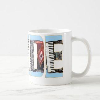 Orgullo del acordeón tazas de café