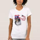 Orgullo del americano de Shih Tzu Camiseta