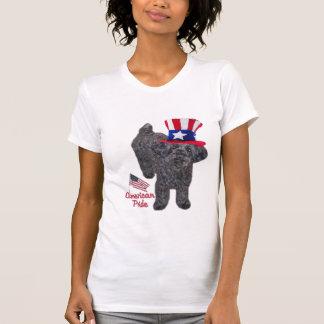 Orgullo del americano de YorkiePoo Camisetas