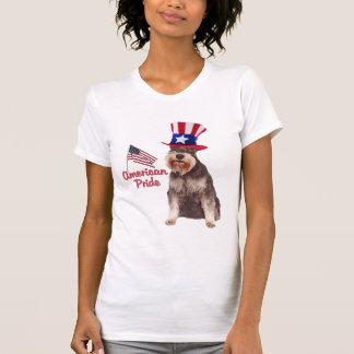 Orgullo del americano del Schnauzer miniatura Camiseta