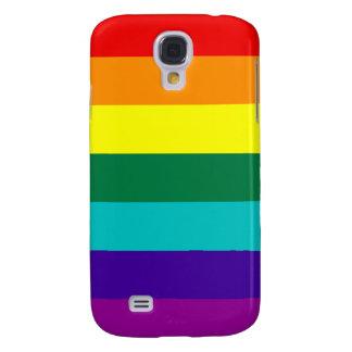 Orgullo del arco iris de 7 rayas funda para galaxy s4