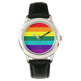 Orgullo del arco iris de 7 rayas relojes