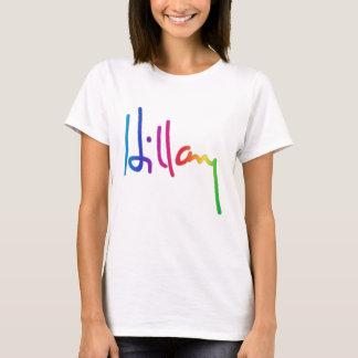 Orgullo del arco iris de la firma de Hillary Playera