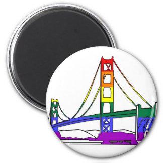 Orgullo del arco iris de puente Golden Gate Imán Redondo 5 Cm