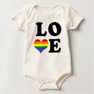 Orgullo del arco iris del amor body para bebé