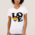 Orgullo del arco iris del amor camiseta