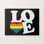 Orgullo del arco iris del amor rompecabezas