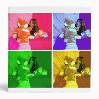 """orgullo del arco iris del oso del amor de la carpeta 1 1/2"""""""