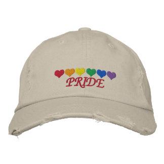 Orgullo del arco iris gorra de béisbol bordada