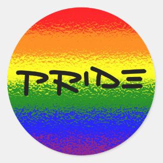 Orgullo del arco iris pegatina redonda