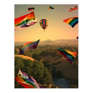 Orgullo del arco iris sobre el valle de Sonoma Postales