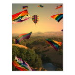 Orgullo del arco iris sobre el valle de Sonoma Postal
