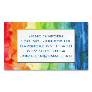 Orgullo del arco iris tarjetas de visita magnéticas (paquete de 25)