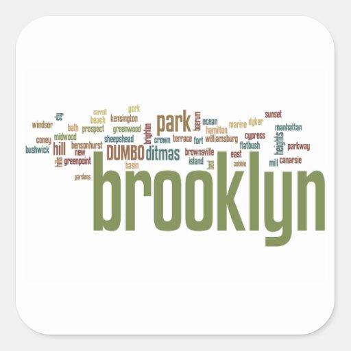 ¡Orgullo del bebé de Brooklyn!! Pegatina Cuadrada