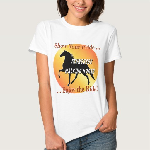Orgullo del caballo que camina remeras