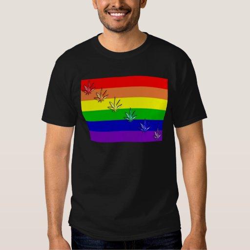 Orgullo del cáñamo del arco iris playeras