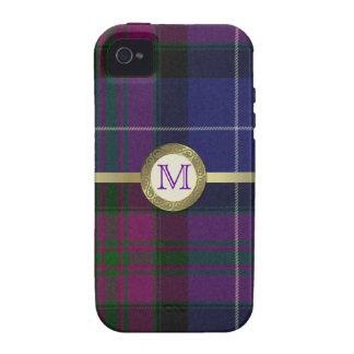 Orgullo del caso duro del iPhone 4 del monograma d Vibe iPhone 4 Carcasas