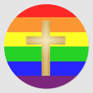 Orgullo del cristiano de GLBT Etiquetas Redondas
