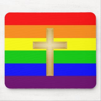 Orgullo del cristiano de GLBT Alfombrilla De Ratones