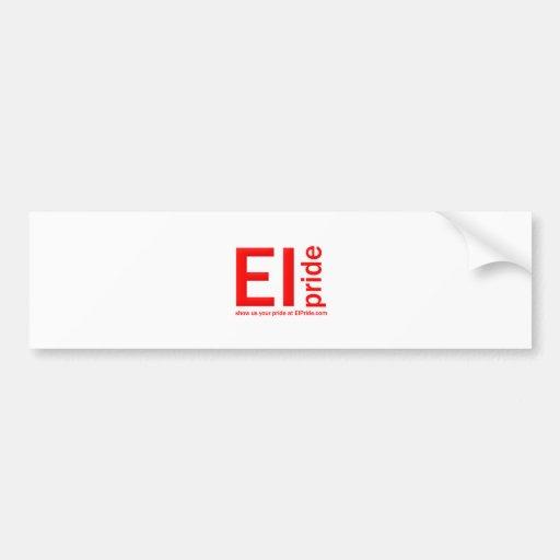 Orgullo del E-I Pegatina Para Auto