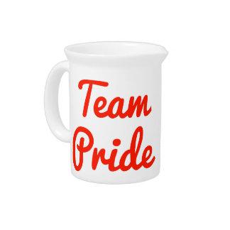 Orgullo del equipo jarras