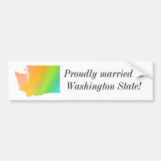 Orgullo del estado de Washington Pegatina De Parachoque
