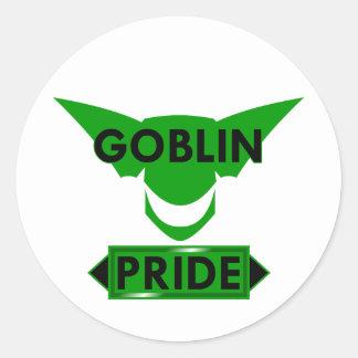 Orgullo del Goblin Pegatina Redonda