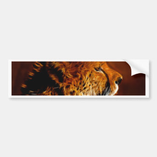 Orgullo del guepardo etiqueta de parachoque