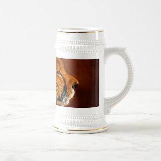 Orgullo del guepardo jarra de cerveza