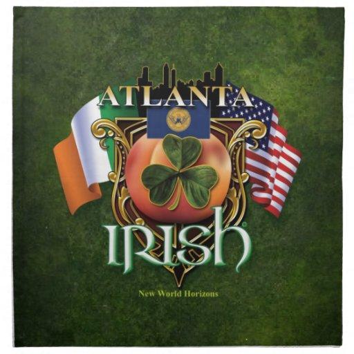 Orgullo del irlandés de Atlanta Servilletas Imprimidas