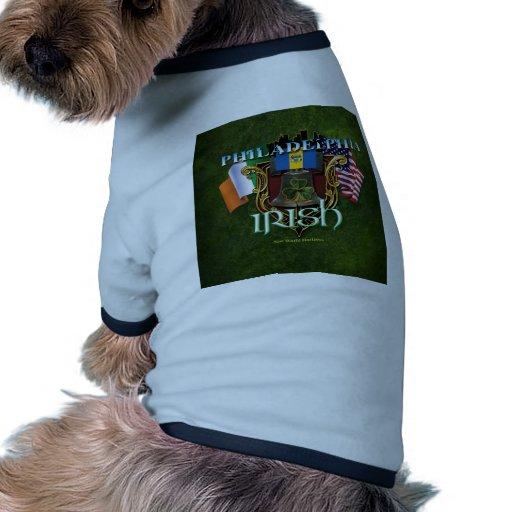 Orgullo del irlandés de Philadelphia Camiseta Con Mangas Para Perro