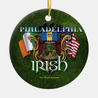 Orgullo del irlandés de Philadelphia Adorno Redondo De Cerámica