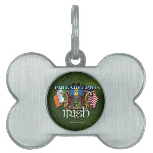 Orgullo del irlandés de Philadelphia Placas De Mascota