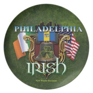 Orgullo del irlandés de Philadelphia Platos Para Fiestas