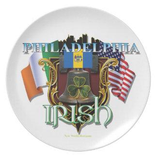 Orgullo del irlandés de Philadelphia Plato Para Fiesta