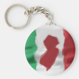 Orgullo del italiano del jersey llavero redondo tipo pin