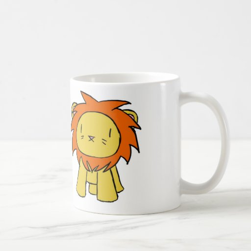 Orgullo del león taza de café