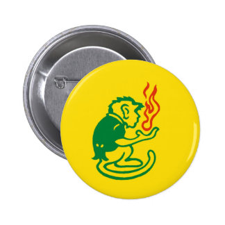 Orgullo del mono de Humboldt Pin Redondo De 2 Pulgadas