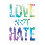 ORGULLO DEL ODIO LGBT DEL AMOR NO POSTALES