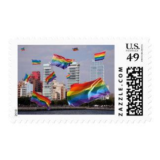Orgullo del oeste del pueblo sello postal