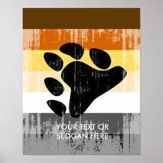 Orgullo del oso apenado posters
