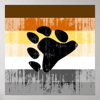 Orgullo del oso apenado poster