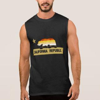 Orgullo del oso de California de la bandera del Playeras Sin Mangas